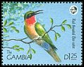 Cl: Red-throated Bee-eater (Merops bulocki)(Repeat for this country)  SG 1014 (1990) 80