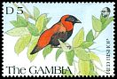 Cl: Orange Bishop (Euplectes franciscanus)(Repeat for this country)  SG 1141 (1991) 100