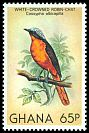 Cl: White-crowned Robin-Chat (Cossypha albicapilla) SG 940 (1981) 125