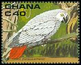 Cl: Grey Parrot (Psittacus erithacus)(Repeat for this country)  SG 1458 (1990) 90