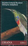 Cl: Southern Double-collared Sunbird (Cinnyris chalybeus)(Out of range and no other stamp) (I do not have this stamp)  SG 3796d (2012)  [8/1]