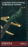 Cl: Long-tailed Glossy-Starling (Lamprotornis caudatus)(I do not have this stamp)  SG 3796b (2012)  [8/1]