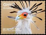Cl: Secretarybird (Sagittarius serpentarius)(Repeat for this country) (I do not have this stamp)  SG 3854a (2015)