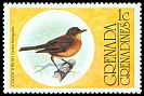 Cl: Cocoa Thrush (Turdus fumigatus)(Out of range and no other stamp)  SG 148 (1976) 10
