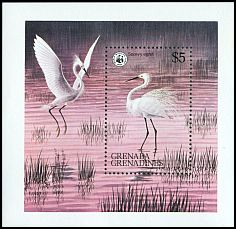 Cl: Snowy Egret (Egretta thula)(Out of range)  SG 301 (1978) 450