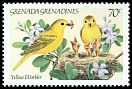 Cl: Yellow Warbler (Dendroica petechia)(Repeat for this country)  SG 601 (1984) 225