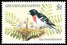 Cl: Rose-breasted Grosbeak (Pheucticus ludovicianus)(Out of range)  SG 602 (1984)