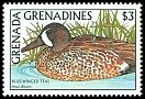 Cl: Blue-winged Teal (Anas discors)(Out of range)  SG 953 (1988)
