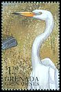 Cl: Great Egret (Ardea alba)(Out of range)  SG 2706 (1999)