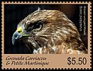 Cl: Broad-winged Hawk (Buteo platypterus)(Repeat for this country) (I do not have this stamp)  new (2017)