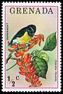 Cl: Bananaquit (Coereba flaveola)(Repeat for this country)  SG 761 (1976) 10