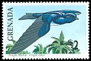 Cl: Caribbean Martin (Progne dominicensis) SG 2161 (1990)