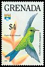 Cl: Puerto Rican Emerald (Chlorostilbon maugaeus)(Out of range and no other stamp)  SG 2402 (1992)