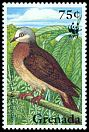 Cl: Grenada Dove (Leptotila wellsi)(Endemic or near-endemic)  SG 2798 (1995) 60