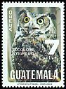 Cl: Great Horned Owl (Bubo virginianus) <<Tecolote atigrado>>  SG 1127 (1979) 250