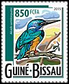 Cl: Half-collared Kingfisher (Alcedo semitorquata)(Out of range) (I do not have this stamp)  new (2015)