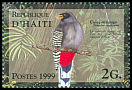 Cl: Hispaniolan Trogon (Priotelus roseigaster) <<Caleçon rouge>> (Endemic or near-endemic)  SG 1640 (1999)