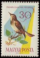 Cl: Common Nightingale (Luscinia megarhynchos) <<Fulemule>>  SG 1781 (1961) 10 [2/7]