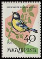 Cl: Great Tit (Parus major) <<Szencinege>>  SG 1782 (1961) 10 [2/7]