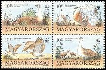Cl: Great Bustard (Otis tarda)(Repeat for this country)  SG 2179-82 (1994) 110 [2/2]