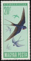 Cl: Barn Swallow (Hirundo rustica) SG 2184 (1966) 10 [2/2]
