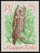 Cl: European Scops-Owl (Otus scops) <<Fules kuvik>>  SG 2350 (1968) 20 [2/7]