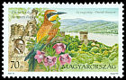 Cl: European Bee-eater (Merops apiaster) <<Gyurgyalag>> (Repeat for this country)  SG 4561 (2001)