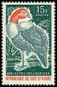 Cl: White-breasted Guineafowl (Agelastes meleagrides) SG 265 (1965) 110