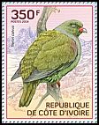 Cl: African Green-Pigeon (Treron calva)(Repeat for this country) (I do not have this stamp)  new (2014)