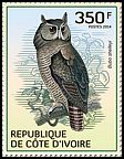 Cl: Shelley's Eagle-Owl (Bubo shelleyi)(I do not have this stamp)  new (2014)