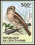 Cl: African Barred Owlet (Glaucidium capense)(Out of range) (I do not have this stamp)  new (2014)