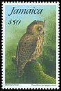 Cl: Jamaican Owl (Pseudoscops grammicus) <<Brown Owl>> (Endemic or near-endemic)  SG 871 (1995)