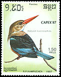 Cl: Grey-headed Kingfisher (Halcyon leucocephala)(Out of range)  SG 827 (1987) 110
