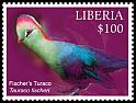 Cl: Fischer's Turaco (Tauraco fischeri)(Out of range) (I do not have this stamp)  new (2016)