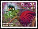 Cl: Guinea Turaco (Tauraco persa)(Repeat for this country) (I do not have this stamp)  new (2016)