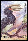 Cl: Trumpeter Hornbill (Ceratogymna bucinator)(Out of range and no other stamp)  new (2000)
