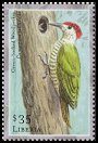 Cl: Green-backed Woodpecker (Campethera cailliautii)(Out of range and no other stamp)  new (2001)  [2/4]