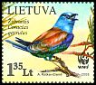 Cl: European Roller (Coracias garrulus) <<Zalvarnis>> (Repeat for this country)  SG 953 (2008)