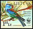 Cl: European Roller (Coracias garrulus) <<Zalvarnis>> (Repeat for this country)  SG 954 (2008)