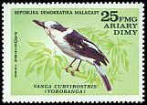 Cl: Hook-billed Vanga (Vanga curvirostris) SG 450 (1982) 90