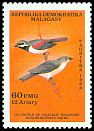 Cl: Red-tailed Vanga (Calicalicus madagascariensis) SG 605 (1986) 80