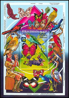 Cl: Madagascar Bee-eater (Merops superciliosus) SG 700 (1988)