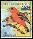 Cl: Red Fody (Foudia madagascariensis)(Repeat for this country) (not catalogued)  (1991)