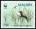 Cl: Wattled Crane (Grus carunculatus)(Repeat for this country)  SG 762 (1987) 450