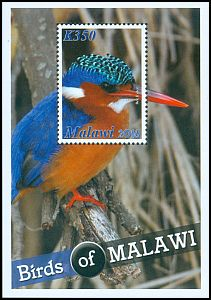 Cl: Malachite Kingfisher (Alcedo cristata)(Repeat for this country)  SG 1135 (2016) 160 [10/18]