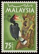 Cl: Rhinoceros Hornbill (Buceros rhinoceros) <<Enggang>> (Repeat for this country)  SG 23 (1965) 100 [2/28]