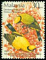Cl: Black-naped Oriole (Oriolus chinensis) <<Dendang Selayang>> (Repeat for this country)  SG 1081 (2002) 90