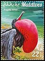 Cl: Great Frigatebird (Fregata minor)(Repeat for this country) (I do not have this stamp)  new (2015)