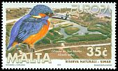 Cl: Common Kingfisher (Alcedo atthis) <<Ghasfur ta' San Martin>>  SG 1099 (1999) 250