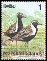 Cl: Pacific Golden-Plover (Pluvialis fulva) <<Kwolej>> (Repeat for this country)  SG 1108 (1999) 15